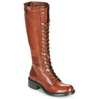 Chaussures Femme Bottes ville Dream in Green NUCRE Cognac