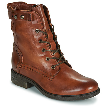 Chaussures Femme Boots Dream in Green ERVANE Cognac