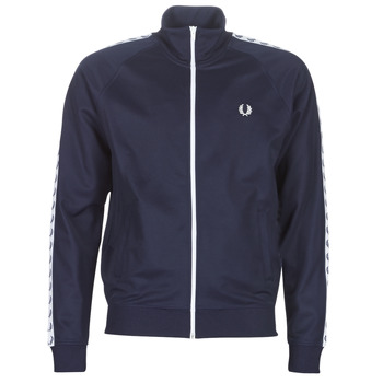 Vêtements Homme Vestes de survêtement Fred Perry TAPED TRACK JACKET Marine