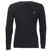 Vêtements Homme Pulls Gant COTTON CABLE CREW Marine