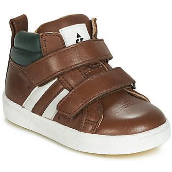 Chaussures Garçon Baskets montantes Acebo's 3040-CUERO-C Marron