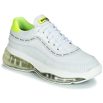 Chaussures Femme Baskets basses Bronx BUBBLY Blanc / Jaune