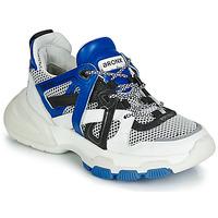 Chaussures Femme Baskets basses Bronx SEVENTY STREET Blanc / Noir / Bleu