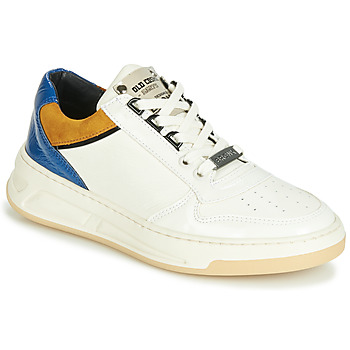Chaussures Femme Baskets basses Bronx OLD COSMO Blanc / Ocre / Bleu