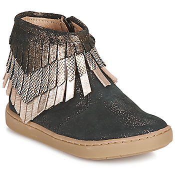 Chaussures Fille Boots Shoo Pom PLAY HURON Noir / Argent