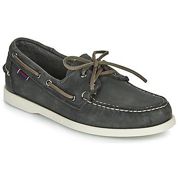 Chaussures Homme Chaussures bateau Sebago DOCKSIDES PORTLAND CRAZY H Gris