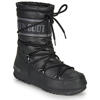 Chaussures Femme Bottes de neige Moon Boot MOON BOOT MID NYLON WP Noir