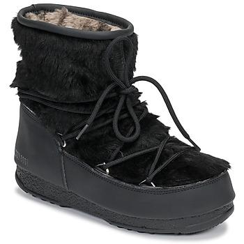 Chaussures Femme Bottes de neige Moon Boot MOON BOOT MONACO LOW FUR WP Noir