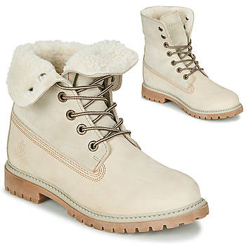 Chaussures Femme Boots Lumberjack RIVER Crème