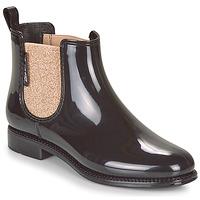 Chaussures Femme Bottes de pluie Be Only NASHVILLE Noir / Or