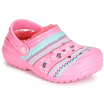 Chaussures Fille Sabots Crocs CLASSIC PRINTED LINED CLOG K Rose