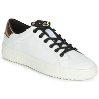 Chaussures Femme Baskets basses Geox D PONTOISE Blanc / Cuivre