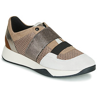Chaussures Femme Baskets basses Geox D SUZZIE Taupe / Argent