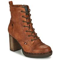 Chaussures Femme Bottines Mustang 1336502-307 Cognac
