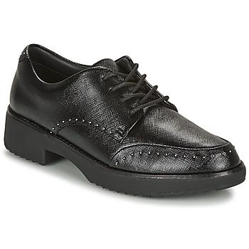 Chaussures Femme Derbies FitFlop KEELY MICROSTUD BROGUES Noir