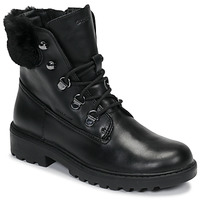 Chaussures Fille Boots Geox J CASEY GIRL WPF Noir