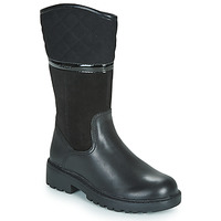 Chaussures Fille Bottes ville Geox J CASEY GIRL WPF Noir