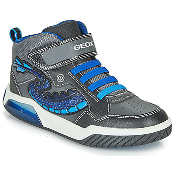 Chaussures Garçon Baskets montantes Geox J INEK BOY Noir / Bleu