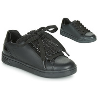 Chaussures Fille Baskets basses Geox J DJROCK GIRL Noir