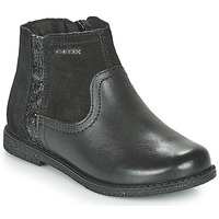 Chaussures Fille Boots Geox J SHAWNTEL Noir