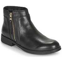 Chaussures Fille Boots Geox JR AGATA Noir