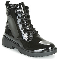 Chaussures Fille Boots Geox J CASEY GIRL Noir