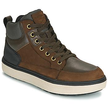 Chaussures Garçon Baskets montantes Geox J MATTIAS B BOY ABX Café / Noir