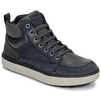 Chaussures Garçon Baskets montantes Geox J MATTIAS B BOY ABX Bleu / Noir