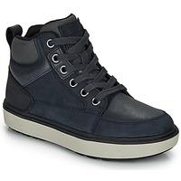 Chaussures Garçon Baskets montantes Geox J MATTIAS B BOY ABX Bleu / Noir / Waterproof