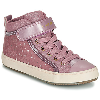 Chaussures Fille Baskets montantes Geox J KALISPERA GIRL Rose