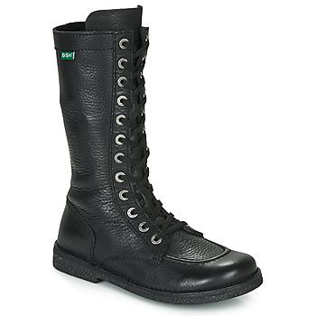 Chaussures Femme Bottes ville Kickers MEETKIKNEW Noir