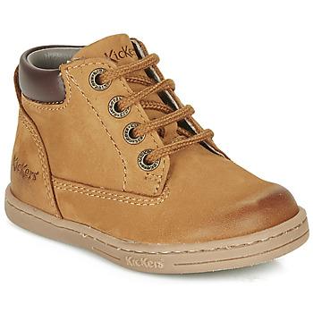 Chaussures Garçon Boots Kickers TACKLAND Camel / Marron