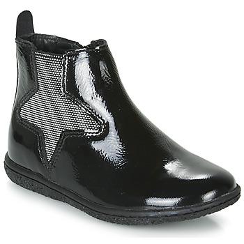 Chaussures Fille Boots Kickers VERMILLON Noir