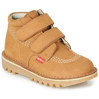 Chaussures Garçon Boots Kickers NEOVELCRO Camel