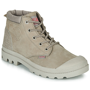 Chaussures Femme Boots Palladium PAMPA LO CUFF LEA Gris