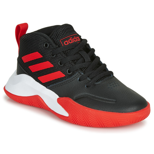 Chaussures Enfant Basketball adidas Performance OWNTHEGAME K WIDE Noir / rouge
