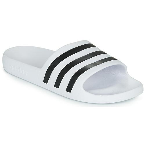 Chaussures Claquettes adidas Performance ADILETTE AQUA Blanc
