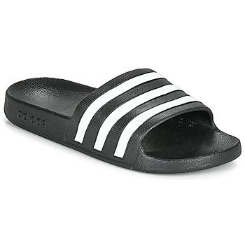 Chaussures Claquettes adidas Performance ADILETTE AQUA Noir / blanc