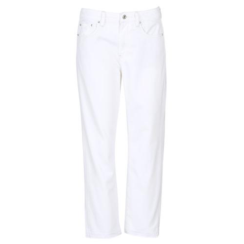 Vêtements Femme Jeans boyfriend G-Star Raw 3301 MID BOYFRIEND 7/8 Blanc