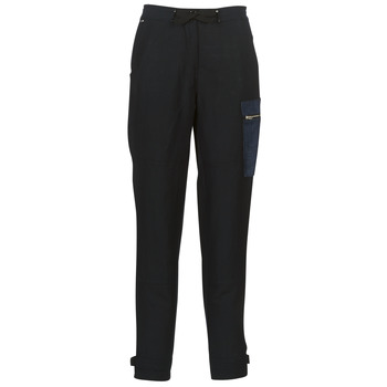 Vêtements Femme Pantalons cargo G-Star Raw FELDSPAR HIGH STRAIGHT CARGO Marine