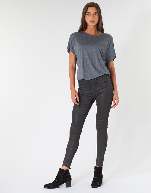 Vêtements Femme Jeans skinny G-Star Raw ASHTIX ZIP HIGH SUPER SKINNY ANKLE WMN Noir