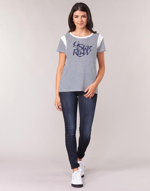 Vêtements Femme Jeans skinny G-Star Raw LYNN MID SKINNY WMN Bleu Faded Blue