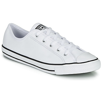 Chaussures Femme Baskets basses Converse CHUCK TAYLOR ALL STAR DAINTY GS  LEATHER OX Blanc