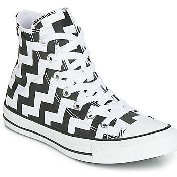 Chaussures Femme Baskets montantes Converse CHUCK TAYLOR ALL STAR GLAM DUNK CANVAS HI Noir / Blanc