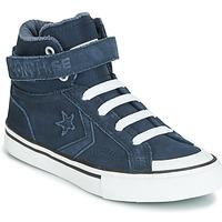Chaussures Enfant Baskets montantes Converse PRO BLAZE STRAP SPACE RIDE SUEDE HI Bleu