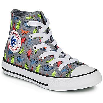 Chaussures Garçon Baskets montantes Converse CHUCK TAYLOR ALL STAR DINOVERSE HI Gris