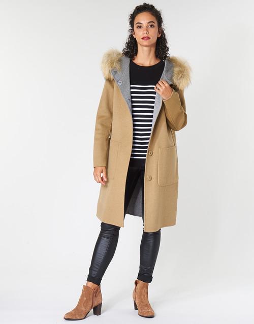 Vêtements Femme Manteaux Oakwood YALE BI Camel / Gris