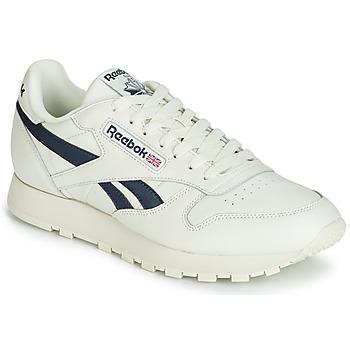 Chaussures Baskets basses Reebok Classic CL LEATHER MU Blanc / noir