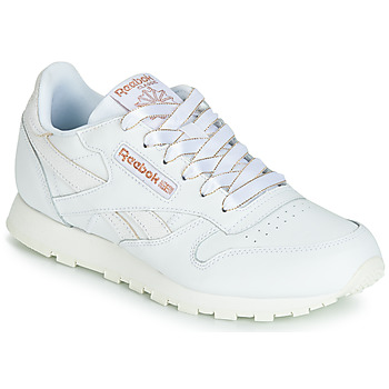 Chaussures Fille Baskets basses Reebok Classic CLASSIC LEATHER J Blanc / glitter