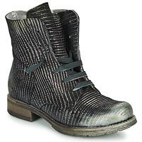 Chaussures Femme Boots Papucei MAURA BLACK SILVER Noir